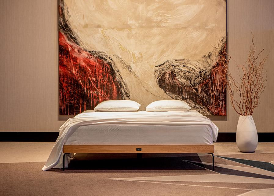 Solid Oak Wood Frame Bed Ehe